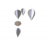 Cheap Hot Air Balloons And Clouds 27*5 Felt Nursery Mobile wholesale