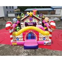 Buy cheap Colorful Candy Moonwalk Bounce House Slide Inflatable Kids Playground from wholesalers