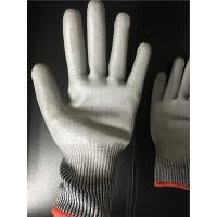 Cheap 13 gauge Knitted Cut level 3 coated PU palm gloves/Cut resistant gloves wholesale