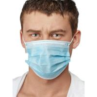 Cheap Blue Color Earloop Procedure Masks , 3 Ply Surgical Mask Free From Foreign Smell wholesale