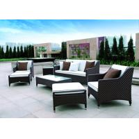 Waterproof Brown Rattan Sofa Set Outdoor Indoor Living