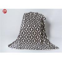 Cheap Polyester Printed Flannel Super Soft Plush Fleece Bed Blanket , Custom Polyester Blanket Various Colors wholesale