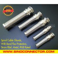 Cheap IP68 Rated Spiral Metallic (Brass) Cable Gland with Flexible Kink & Twist Protection wholesale