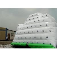 Cheap White Inflatable Water Sports , 3 Sides Inflatable Iceberg For Climbing In Beach Park And Swimming Pool wholesale