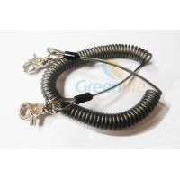 Cheap Heavy Duty Coil Tool Lanyard , High Security Coiled Security Tethers Load 15KG wholesale