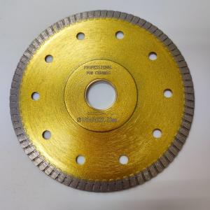 Cheap 125mm Super Thin Sintered Turbo Circular Dry Tile Saw Blade Quick Release wholesale