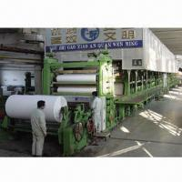 China 5-ton/Day White Paper-making Machine, Waste Paper, Virgin Pulp, Bagasse, Wheat Straw Raw Materials on sale