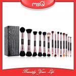 2017  fashion  14pcs Double Sided Brush Sets Makeup Private Label Double End Cosmetics Brush Set Wholesale