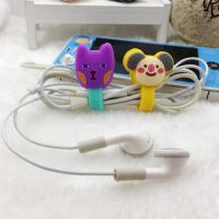 Cheap Soft PVC Silicone Cable Winder , wire management systems for Earphone wholesale
