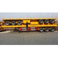 Buy cheap 3 axle flatbed container semi trailer / flat bed 20ft/40ft container truck from wholesalers
