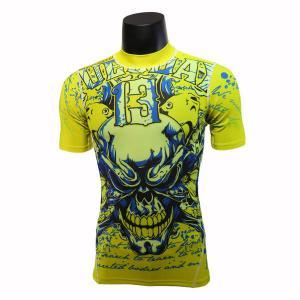 Cheap Short Sleeve Green Bodybuilding Compression Shirts / Weightlifting Compression Shirts wholesale