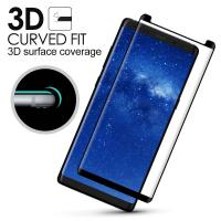 Cheap Samsung Note 8 Anti Smudge Privacy Glass Screen Protector 3D Curved Edge wholesale