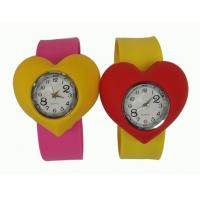 Cheap Sport Heart Shape Waterproof Slap Silicone Watch For Kids With Japanese Movement wholesale