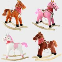 China Cute Children Rocking Horse Toys Sound Moving Mouth Tail Led Light Big on sale