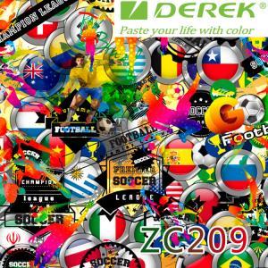 ZC209 Bubble Free Digital Printing Doodle Film / Graffiti Sticker Bomb for Car Wrapping