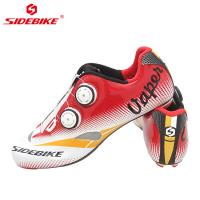 Cheap Custom Carbon Cycling Shoes Bright Color Printed Low Wind Resistance EVA Insole wholesale