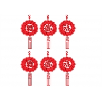 Cheap 6pcs Felt Holiday Decorations Chinese New Year Lantern wholesale