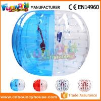 Cheap Transparent Inflatable Bubble Ball / Inflatable Zorb Ball Large Hot Air Welded wholesale