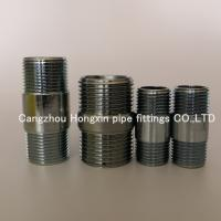 Cheap ASTM A733 galvanized seamless Steel pipe nipples with NPT thread 1/8-12 barrel nipples wholesale