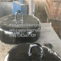 Cheap Offshore platform marine mooring system heavy Capacity Oval Pattern Cast Iron Sinker 2Tons from china wholesale