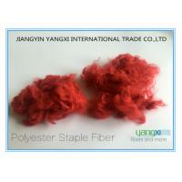 Cheap Comfortable Red Polyester Dyed Fiber For Non Woven Fabrics / Carpets wholesale