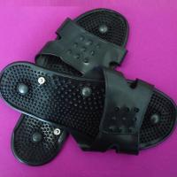 Cheap very comfortable!black silicone conductive massage shoes,snap massage shoes,tens pad wholesale