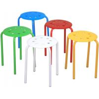 Cheap Classroom Stackable Bar Stools For Kids Students , Plastic Stack Stools wholesale