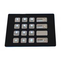 Buy cheap 16 keys weather proof industrial black backlit metal numeric USB keypad with dot matrix from wholesalers