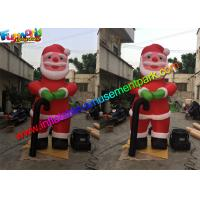 Cheap 10 Feet Oxford Inflatable Santa Claus , Inflatable Father Christmas Balloons wholesale