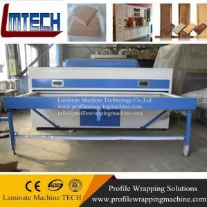 China solid color pvc film cabinet door vacuum membrane press machine on sale