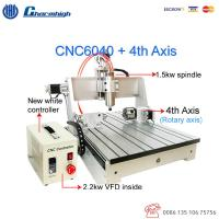 Wood Metal Engraving CNC 6040 4 Axis Router Machine / Small CNC 4 Axis Milling
