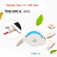 Cheap 2.4A Quick Multi Charger Micro USB Cable 3 In 1 For IPhone Android Watch wholesale