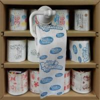 Cheap printed toilet paper supplier 3 layer 200 sheets 100% wood virgin pulp china factory wholesale