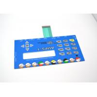 Cheap Push Button Membrane Switch Panel With LCD Clear Window No Embossing wholesale