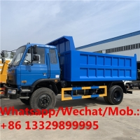China customized dongfeng 4*2 6 wheels 170hp 8cbm tipper truck for sale, DUMP TRUCK for stones, coal, sand transportation on sale