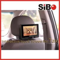 Cheap Taxi Headrest Touch Advertising Screen with Content Management System wholesale
