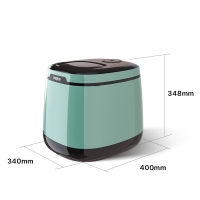 Cheap 25kg bullet shape ice maker for household use in green color wholesale