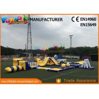Cheap Anti - UV Giant Aquapark Inflatable Water Parks For Kids And Adults wholesale