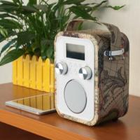 Cheap 2015 Wooden Leather decoration bluetooth speaker boombox with usb sd wholesale