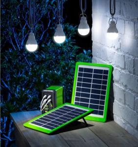 Cheap 3W Garage Solar Lighting Kit  / 5400K Solar Camping Light Kit Lightweight wholesale