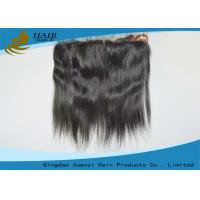 Buy cheap Peruvian Hair Straight Top Frontal Hair Lace Closures 13*4 Inch from wholesalers