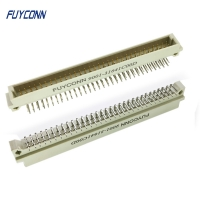 Cheap 2.54mm 2 Rows PCB Right Angle 2*32P 64 Pin Male 41612 Euro Connector wholesale