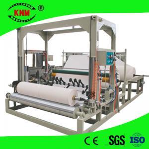 Buy cheap Jumbo roll center pull dispenser toilet paper slitting rewinding machine from wholesalers