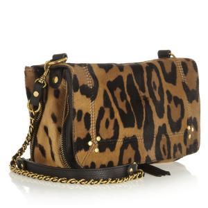 Cheap Print Leopard Fur Womens Leather Handbags , Ladies Winter Fashion Shoulder Bag wholesale