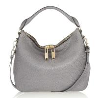 Cheap Luxurious Leather Shoulder Bags Italian Bubble Leather Hobo With Twin Zip wholesale