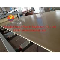 Cheap PVC Crust Foam Board Plastic Extrusion Machinery for Construction wholesale