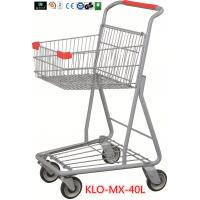 Cheap Chrome Plating Grocery Shopping Trolley 40L / Supermarket Shopping Carts wholesale