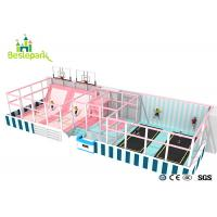 Cheap Huge Children Indoor Playground Macaron Theme / Toddler Play Equipment wholesale