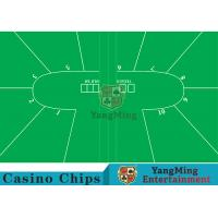 Cheap Texas Holdem Standard Casino Table Layout Green With 100% Polyester Fabric wholesale