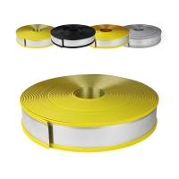 Cheap Hand Making 80mm Yellow Steel Core Rubber Trim Cap for Outdoor Decoration wholesale